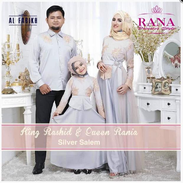 15 Model Baju Muslim Pesta Seragam Keluarga Modern Terbaru