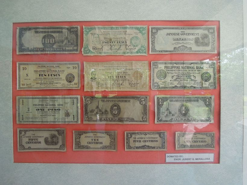 Old bank notes at Corregidor Island