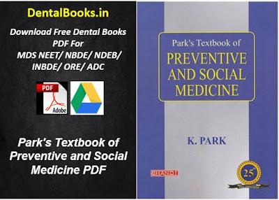 Park's Textbook of Preventive and Social Medicine PDF