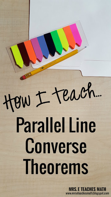 How I Teach Parallel Lines Converse Theorems