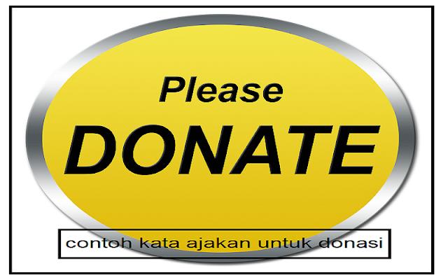 ajakan untuk donasi