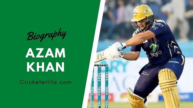Azam Khan cricketer batting, Profile, father, age, height, etc.