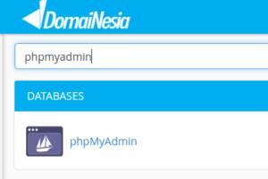 cara importing database mysql ke phpmyadmin online hosting