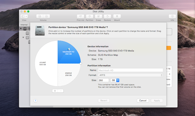Dual Boot MacBook Pro Disk Partitions - MacOS X and Linux