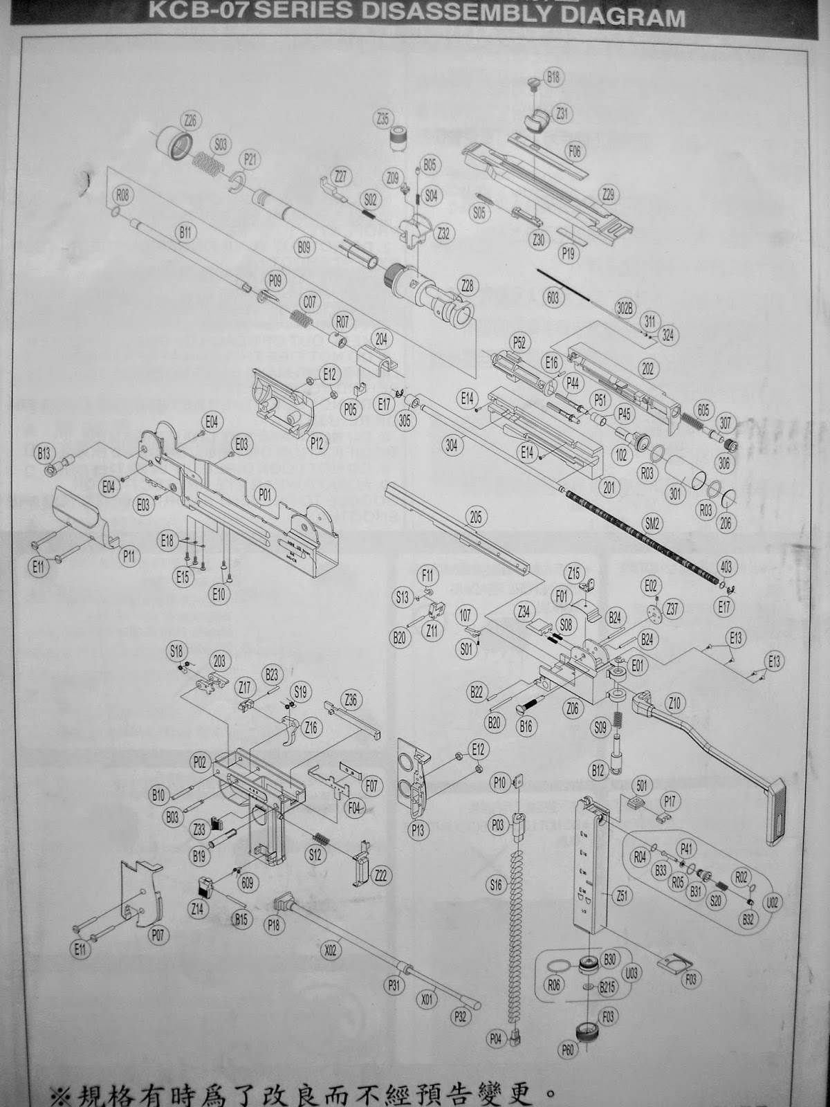 uzi diagram wiring diagramdisassembly diy my airsoft gun and other things kwc mini [ 1200 x 1600 Pixel ]