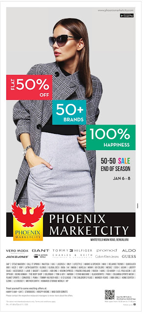 FLAT 50% SALE - Phoenix Marketcity  @Bangalore | January 2016 discount offer