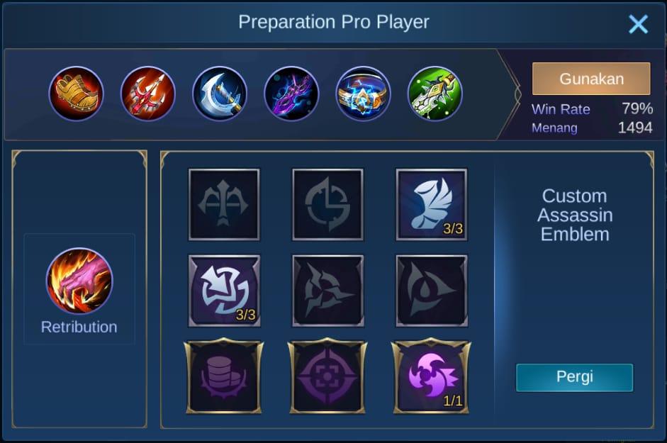build item clint mobile legends (ML)