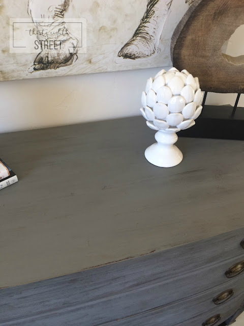 restoration hardware look alike, layering paint, dry brushing metallic cream, country chic paint metallic cream, faux finish on furniture, refinished dresser, dresser makeover, how to refinish furniture