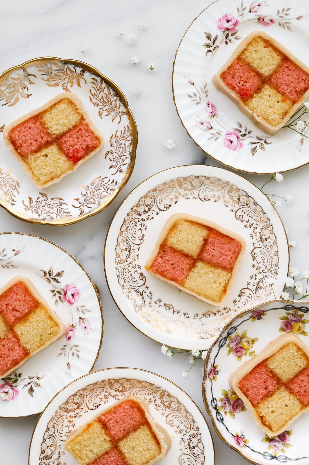 battenberg cake with marzipan