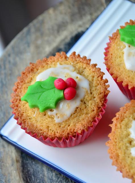 Mini sponge cakes de Noël