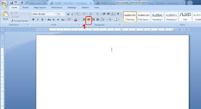 membuat kop surat di microsoft word