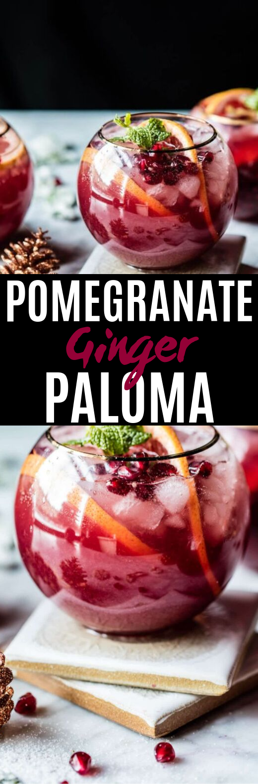Pomegranate Ginger Paloma #drinks #cocktails