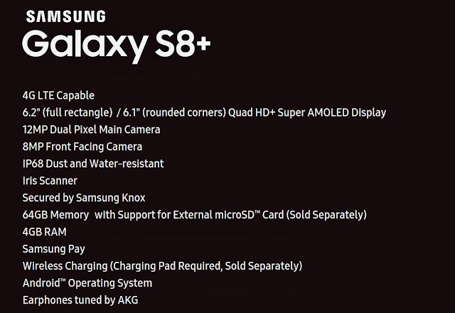 Samsung Galaxy S8+ Specification Leaks