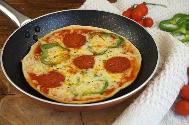 pizza a la sarten sin levadura