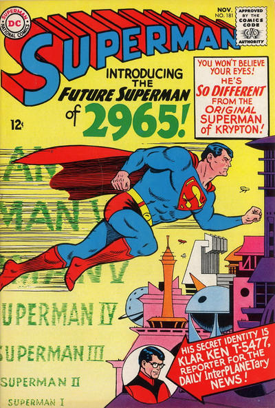Episode #389 Part II: Superman Comic Book Cover Dated November 1965: Superman #181!