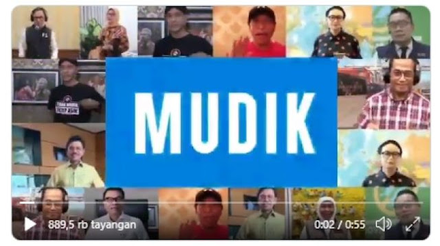 Publik Ledek Lagu #TidakMudik yang Dinyanyikan Menteri-menteri Jokowi