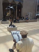 pintor en el museo metropolitano de ny