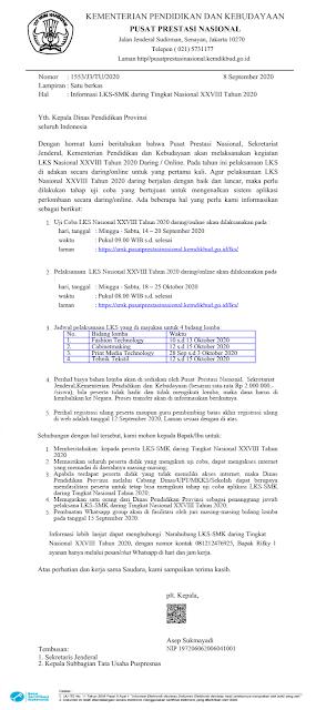 jadwal lks smk xviii tingkat nasional tahun 2020 tomatalikuang.com