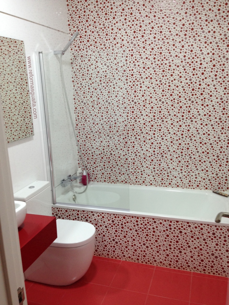 Blanco y Rojo: Reforma de un baño en Valencia ~ Reformas ...