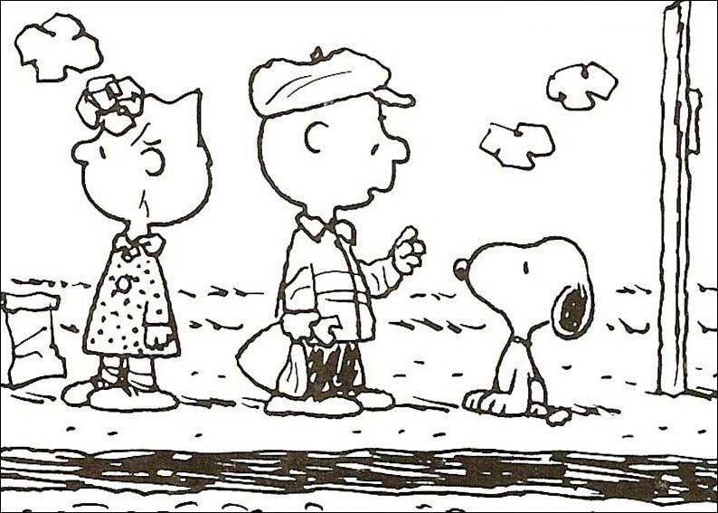 Colorindo E Desenhando Snoopy Para Colorir