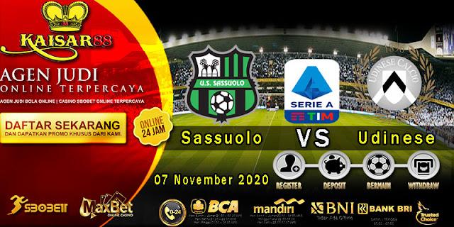 Prediksi Bola Terpercaya Liga Italia Sassuolo Vs Udinese 7 November 2020