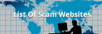 130+ List Of Scam Websites