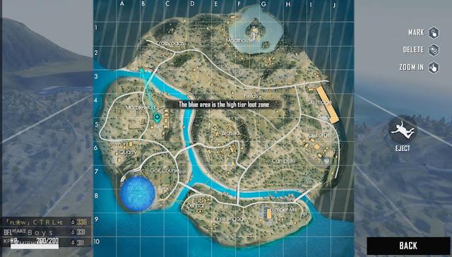 Lokasi Peta Harta Karun Hari ke 18 Map Purgatory FF