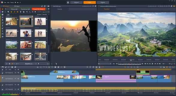 Pinnacle Studio Pro adalah hadir dengan tampilan yang sederhana. Anda bisa mengedit video yang Anda inginkan dengan cepat.