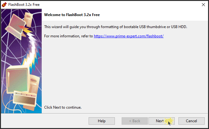 Use FlashBoot To Create a Bootable USB Windows