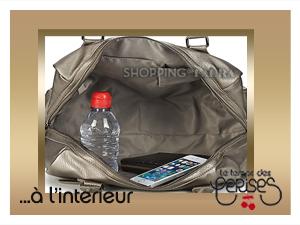 Interieur sac bowling gris silver LE TEMPS DES CERISES