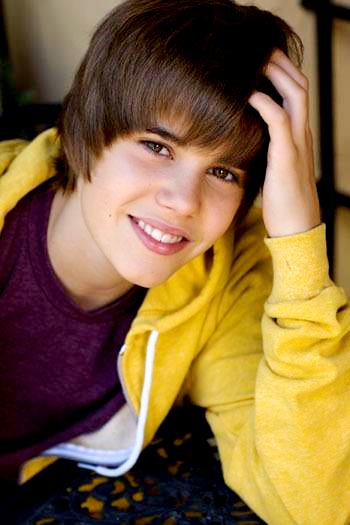 Foto de Justin Bieber con flequillo