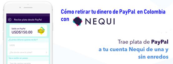 Cómo retirar PayPal en Colombia con Nequi