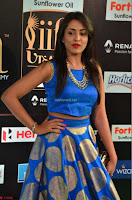 Madhu Shalini Looks Super Cute Slim trim Blue Choli Ghagra IIFA Utsavam Awards 17.JPG