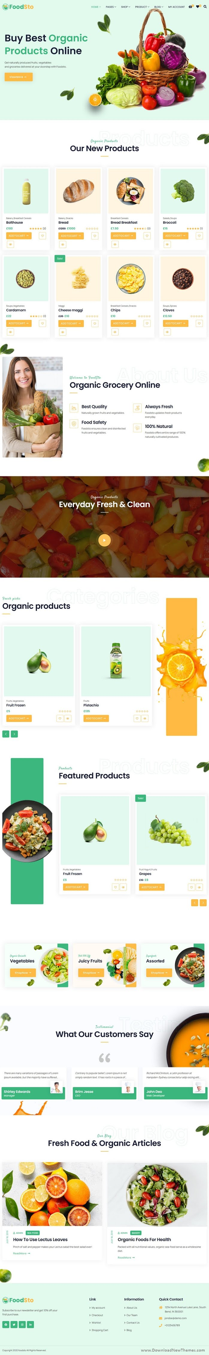 Grocery and Food Store WooCommerce Theme