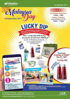 Promosi Sempena Hari Malaysia Pada 16 September 2017