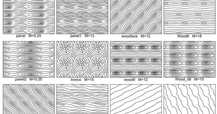 Штриховки древесины для Autocad Кровля и фасады