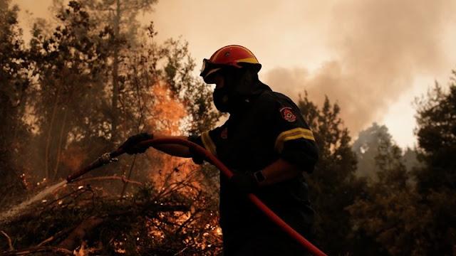 Η εικόνα των πυρκαγιών σε Αρκαδία, Ηλεία, Ανατολική Μάνη και Μεγαλόπολη