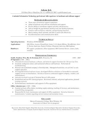 it help desk cover letter