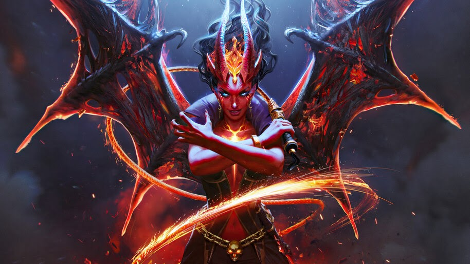 Queen of Pain, Arcana, Dota 2, Eminence of Ristul, 4K, #5.2090