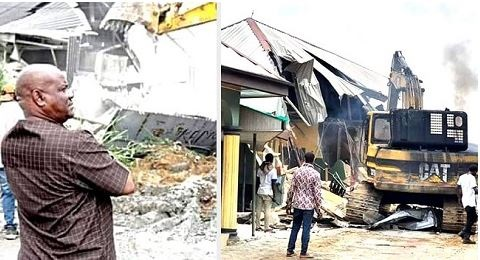 Gov Wike Converts Site Of Demolished Hotel To School