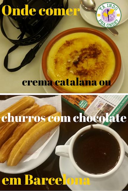 Onde comer crema catalana ou churros com chocolate em Barcelonas? Nas granjas!