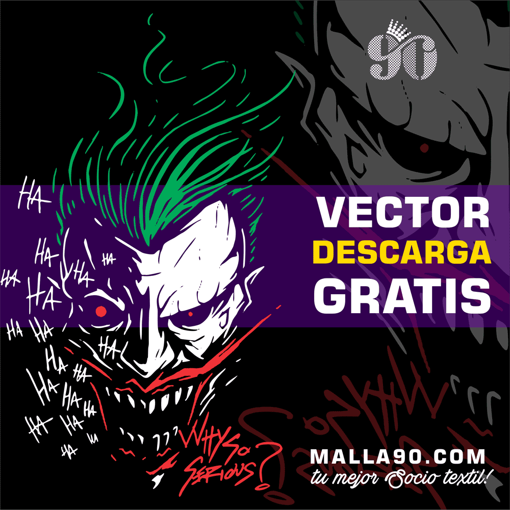 Descarga Gratis Vectores del Joker Ha Ha Evil