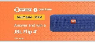 AMAZON JBL FLIP 4 QUIZ TIME answer