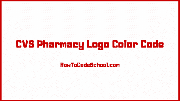 CVS Pharmacy Logo Color Code