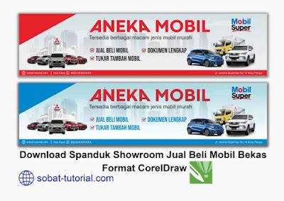 Download Spanduk Jual Beli Mobil Bekas Format CDR