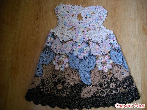 Trico Y Crochet Madona Mía Vestidos Para Niñas Crochet Ruso
