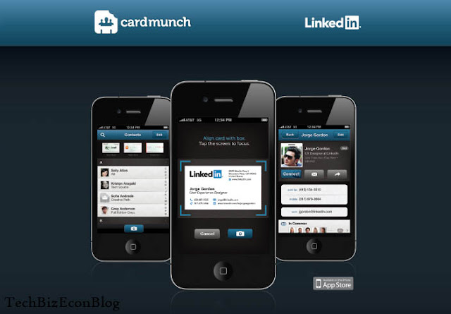 My Favorite Business Apps for Android, iPhone and Blackberry – 5 Super Hot phone apps for 2013 – Cardmunch