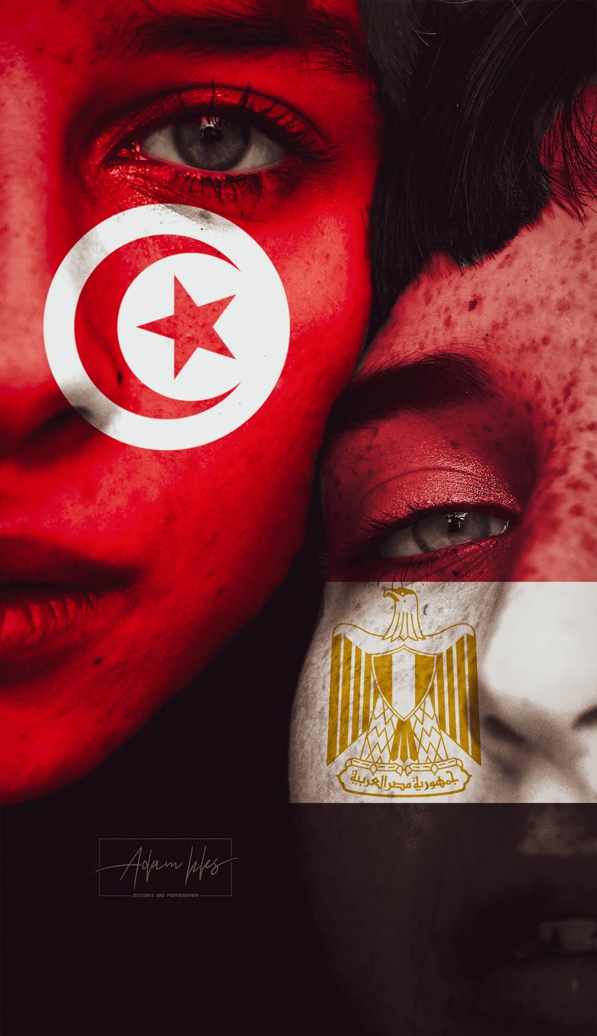 اجمل خلفية تونس ومصر خلفيات علم تونس ومصر على الوجه بجودة عالية