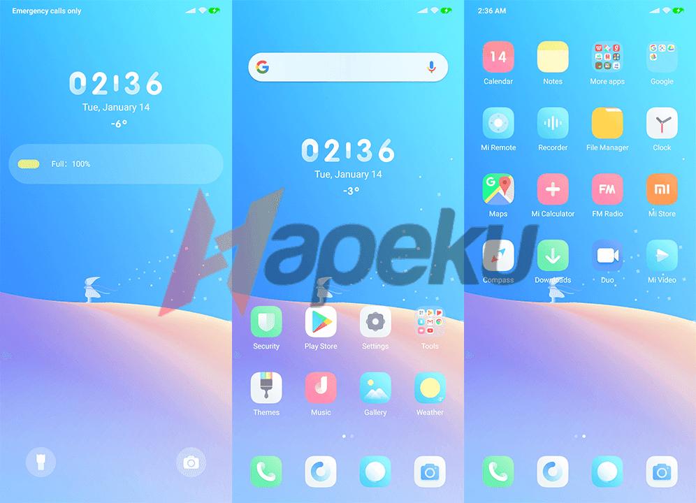 Screenshot Theme Elegant Pure