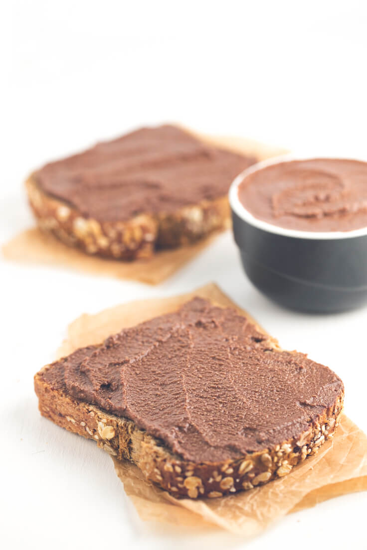 Low Fat Vegan Chocolate Spread: You only need three ingredients to make this Low Fat Vegan Chocolate Spread. It is a delicious spread of bread and is perfect for making desserts.